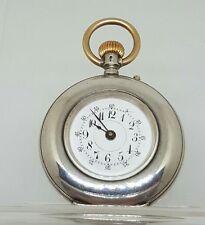 Nice solid silver ladies Louis Jacot  pocket watch c1900 working