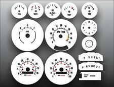 1973-1979 Chevrolet Truck Blazer Dash Cluster White Face Gauges 73-87