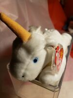 RARE 1994 Brown Horn TY Mystic Beanie Babies w/ Mistakes Style #4007 Best Gift!
