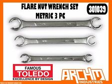 TOLEDO 301039 - FLARE NUT WRENCH SET - METRIC 3 PC - DOUBLE ENDED MULTIPLE SIZES