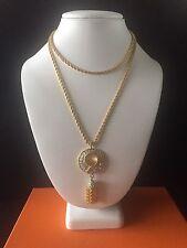 Nolan Miller Gold Tone Tassel Necklace