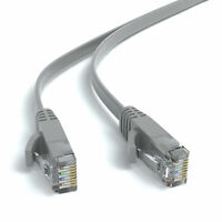 4m CAT 6 Flachkabel Patchkabel Netzwerkkabel Ethernet LAN Kabel - Grau