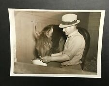 Original Seabiscuit 1938 Press Wire Photo Bill Allison Horse Race War Admiral