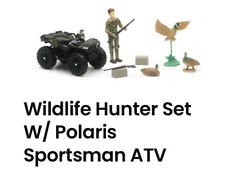 New-Ray POLARIS Wildlife Hunter 9 pc Play Set Ducks Guns ATV 4 Wheeler Toys