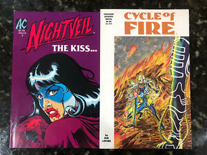 Nightveil 3 1985, Dragonfly Circle Of Fire TPB AC Comics 1991 Paragon Femforce