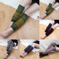 New Winter Warm Women Knit Strip Soft Thick Long Socks Boot Knee-High Leggings