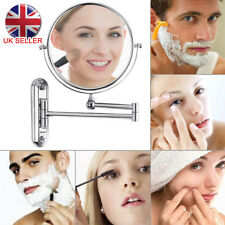 UK 3x Extending Magnifying Makeup Bathroom Shaving Round 2-side Mirror Wall