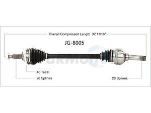 CV Axle Shaft Rear Right SurTrack JG-8005