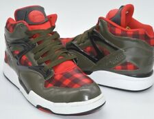 "VNDS Reebok Pump Omni Lite ""Lumberjack"" Grey/Red/Black Plaid Rare Retro SZ 10.5"