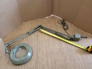 Vintage Luxo Magnifying Lamp Industrial Desk Work Bench Light