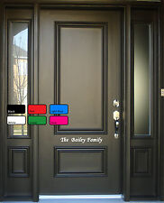 Personalised  Beautiful Front Door Home Family Sign Present Vinyl Decal Sticker