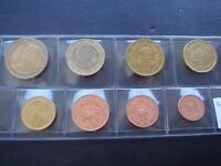 Austria 2008 year UNC coin set from 1 cent - 2 euro total 8 coins 3,88 euro