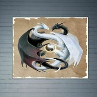 Dragon Frameless DIY Digital Oil Painting By Numbers Canvas Modern Wall Art Hand