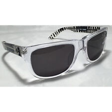 Spy Optic Kubrik Sunglasses Clear Black Drips Grey Smoke Lens Ken Block NEW