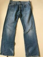 MENS STRAIGHT FIT PAUL SMITH W34 L31  JEANS LIGHT WASH BLUE