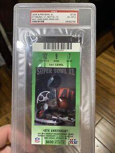2006 Super Bowl XL ticket PSA 6 Pittsburgh Steelers Seattle Seahawks