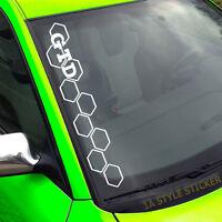 GTD Frontscheibenaufkleber Aufkleber Waben Dirty Diesel Sticker Waben Grill