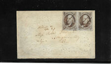 US 5c 1847 VF Pair Embossed Ladies Cover PFC