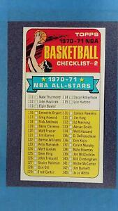 1970-71 Topps #101 Unmarked Basketball Checklist EXMT ~GS02-11