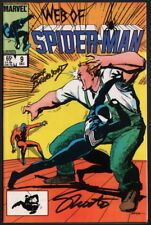 Web of Spiderman #9 SIGNED Jim Shooter & Geof Isherwood / Marvel Comics