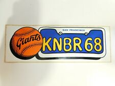 "Rare Vintage San Francisco Giants Knbr 68 Bumper Sticker 9.75"" x 3"" New"
