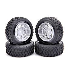 4Pcs Rubber Tires Rims For HPI HSP Racing RC 1/10 Rally Racing Car Offset 6mm