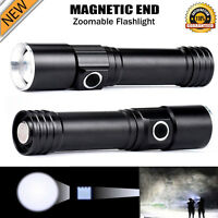 4000LM Zoomable Magnetic END 18650 LED Flashlight Waterproof Torch Light Lamp