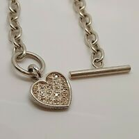 "Solid Sterling Silver 925 bracelet delicate dainty sparkling 8"" T-bar O04-20."