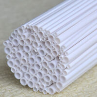 100 pcs Assorted size Styrene ABS pole, Rod, Pipes 500mm long Dia. 3, 4, 5, 6mm