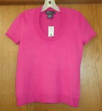 Womans sz XS - Pink short sleeved SWEATER - George TOP - Rayon/Nylon - NEW w Tag