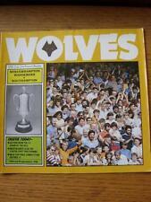 06/11/1984 Wolverhampton Wanderers V Southampton FOOTBALL LEAGUE CUP [] (lieve CR