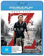 World War Z (Blu-ray & Dvd 2-Disc Set) Brad Pitt Action, Adventure, Horror Film