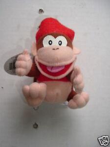 """Diddy Kong Nintendo 1997 Plush 4"""" Beanbag Character New Bensussen Deutsch Toy"""