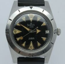 VINTAGE 1960's Simphonie Steel Mens Divers Style Watch Arrow Lollipop Felsa 4002