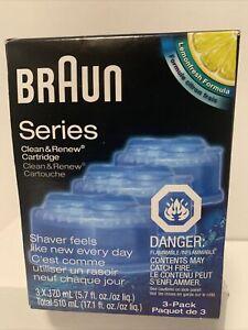 NEW Braun Clean and Renew 3 Cartridges Pack-Refills LemonFresh Formula