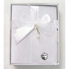 Small Christening Photo Album Cross Heart Charm & Ribbon Bow  20 x 14 x 1.5 cm