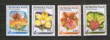 Burkina Faso 1423-26 ** Flora Blumen Orchideen