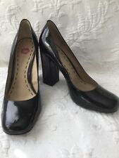 Bp Brass Plumb 9.5 M Unique BlackPatent Leather SquareToe 4�Square Heel Pumps