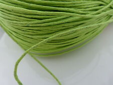 10 Meters Light Green Waxed Cotton Cord 1.5mm Beading Thread Jewelry Making