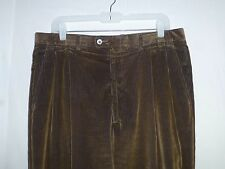 Mint$475 34x30 Canali Brown Navy Corduroy Casual Pants ITALY euc 50 Nordstrom