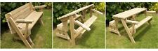 Folding garden Bench and Picnic Table Combo plans woodwork diy