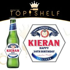 Personalised peroni beer / lager bottle label any name / occasion 620ml size
