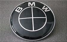 45MM FULL BLACK STEERING WHEEL BADGE SUITABLE FOR BMW