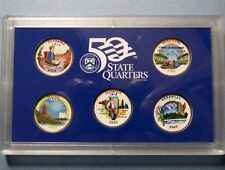 """>>2003 COLORIZED STATE QUARTERS, LOT of (5) UNCIRCULATED """"Work of Art"""" COINS"""