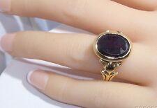 Garnet Ring 14k Gold Garnet Or Ruby Stone Made in Czechoslovakia Vintage Estate