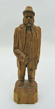 """RAYMOND BOURGAULT BOUTIQUE 8 1/4"""" WOOD CARVED MAN - QUEBEC, CANADA - SIGNED"""
