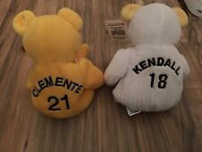 Pittsburgh Pirates Roberto Clemente & Jason Kendall Collectible Beanie Bears