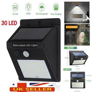 30 LED Solar Power Outdoor Garden Light Security PIR Motion