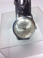 Mens Vintage Clebar 17 Jewel Waterproof Swiss Made Wrist Watch Running Condition