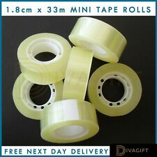 1-12 ROLLS CLEAR PACKING TAPE MINI CELLOTAPE SELLOTAPE CRAFT OFFICE 19mm x 33m